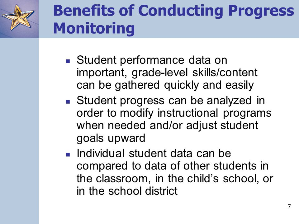 Benefits of Conducting Progress Monitoring