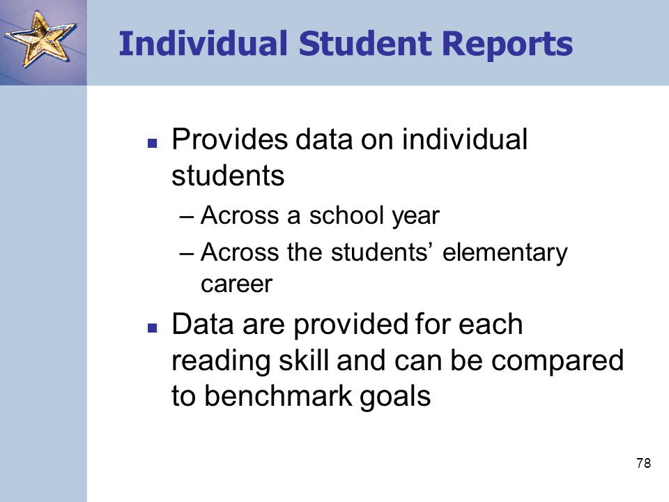 Individual Student Reports