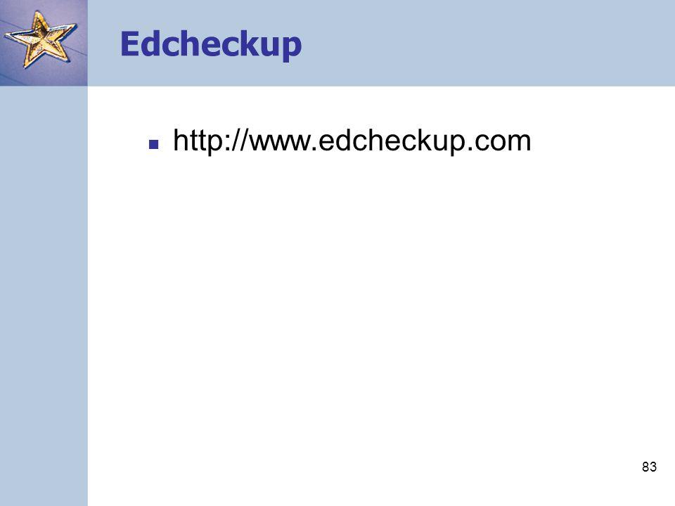 Edcheckup http://www.edcheckup.com