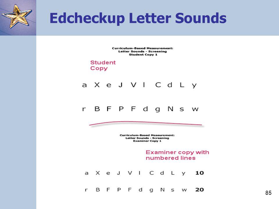 Edcheckup Letter Sounds