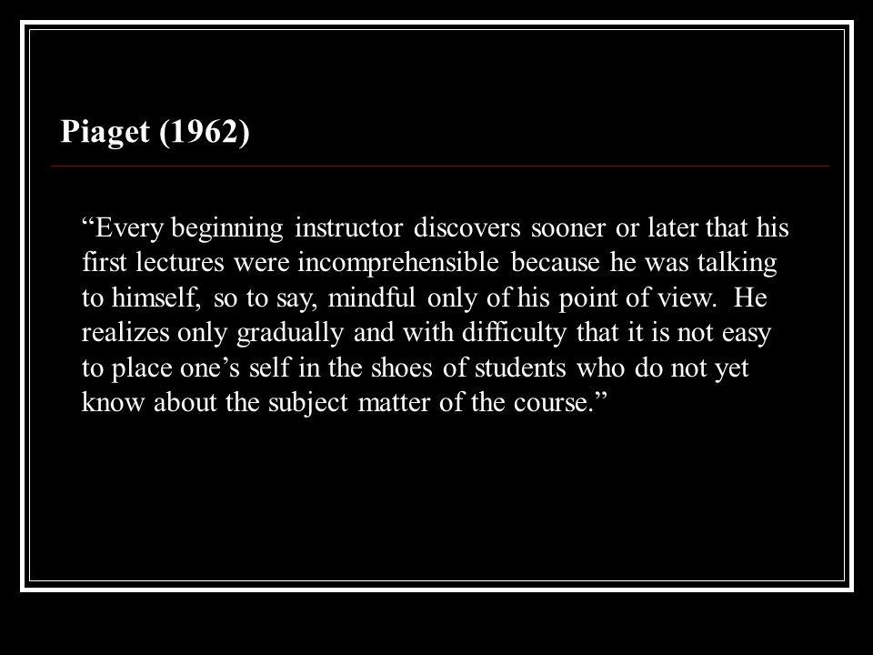 Piaget (1962)