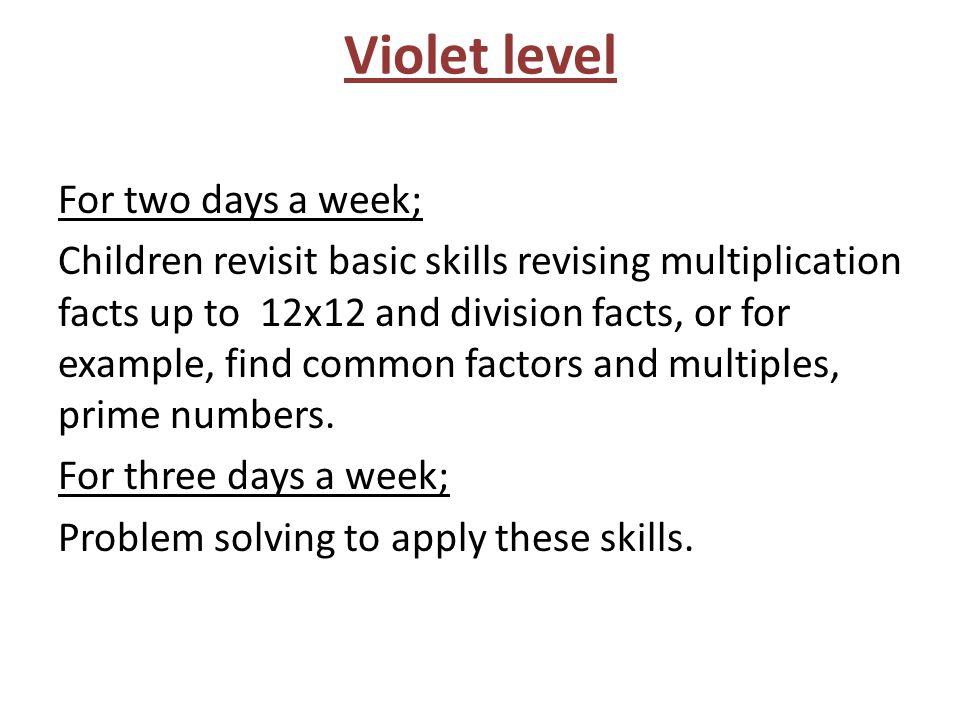 Violet level