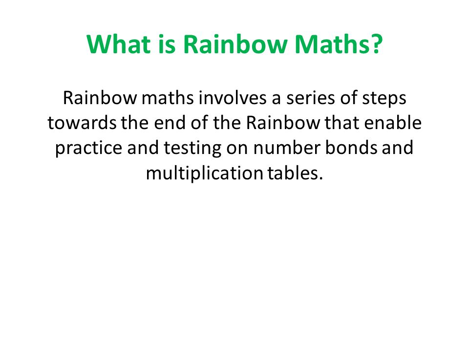 What is Rainbow Maths
