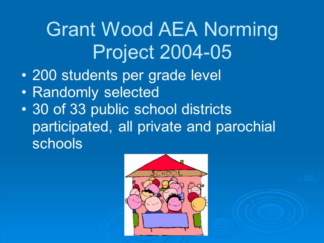 Grant Wood AEA Norming Project 2004-05