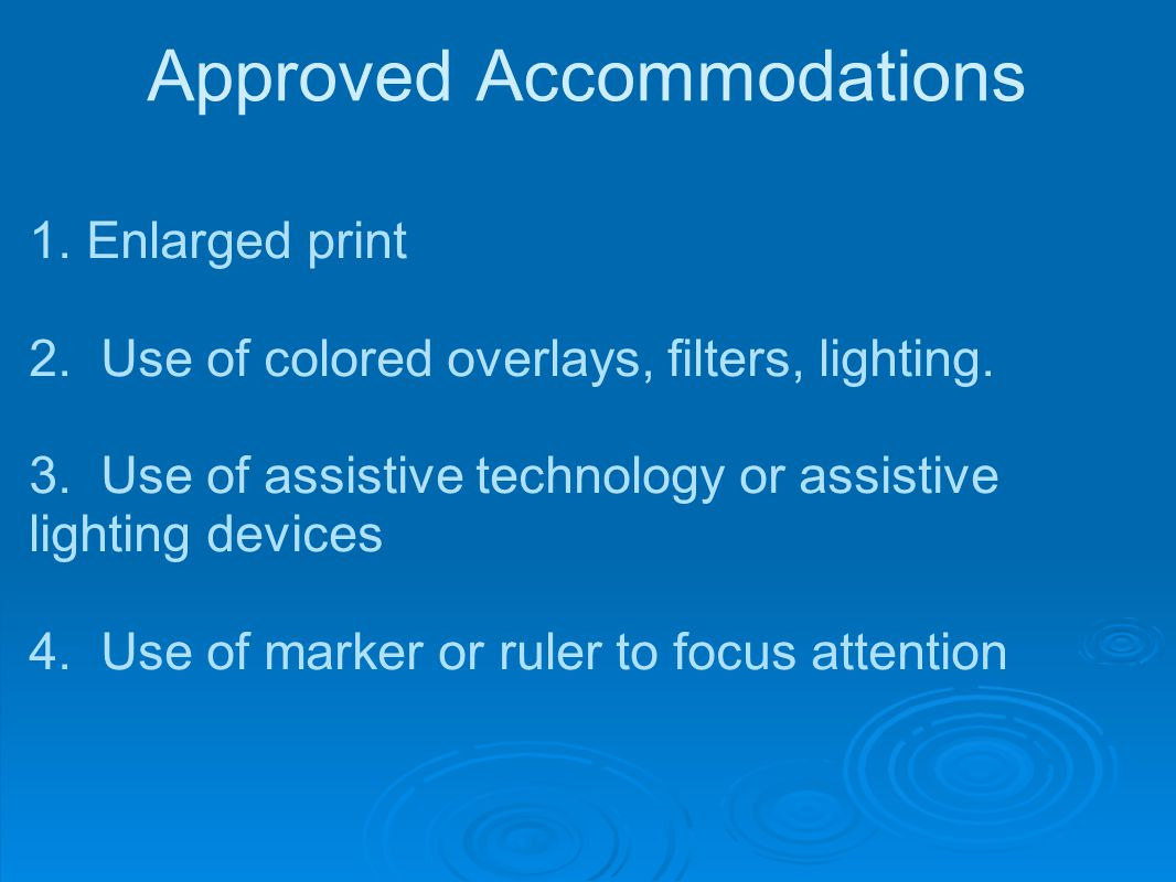 Approved Accommodations