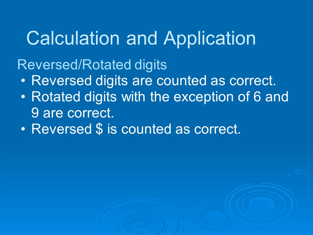 Calculation and Application