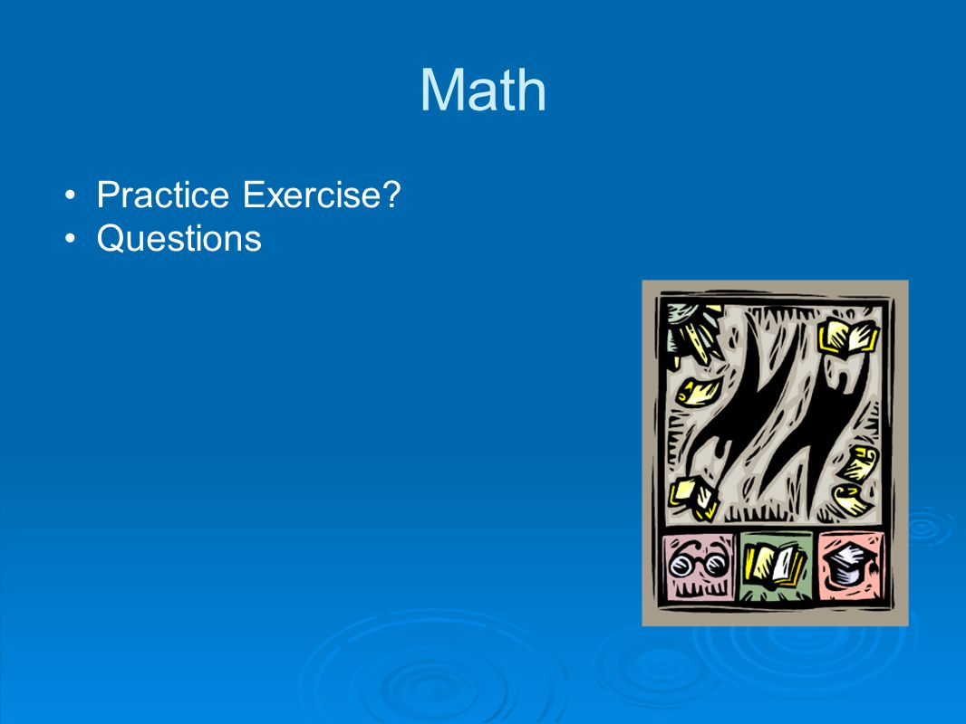 Practice Exercise Questions
