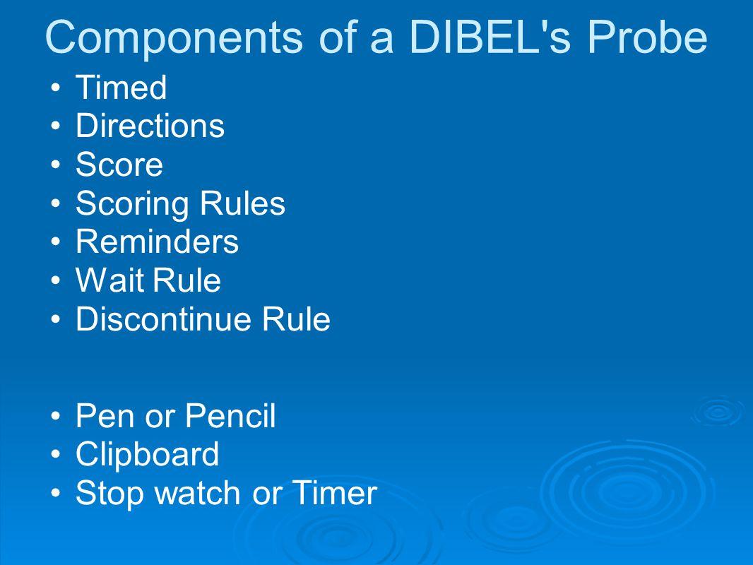 Components of a DIBEL s Probe