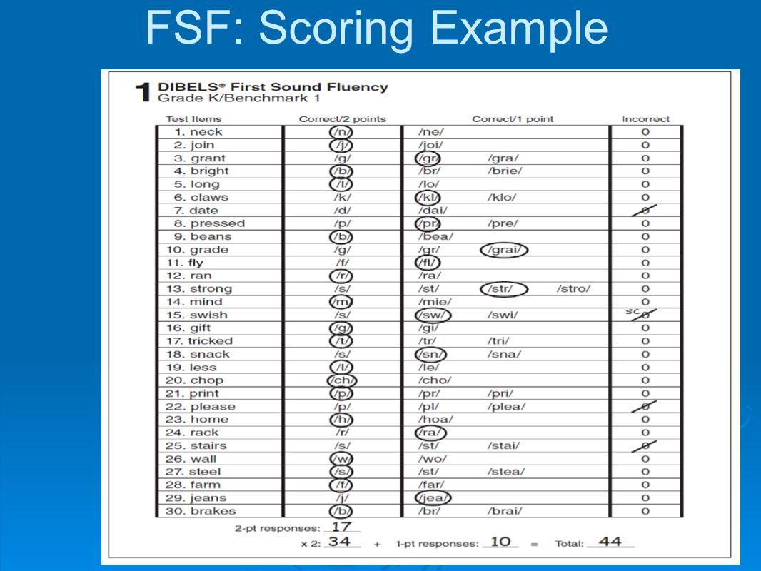 FSF: Scoring Example