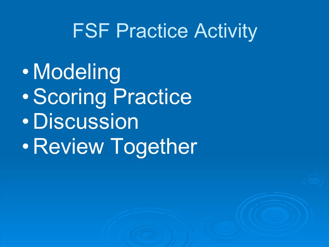 Modeling Scoring Practice Discussion Review Together