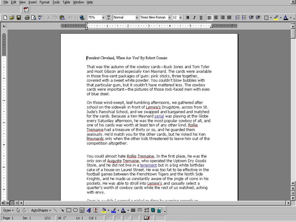 Readability Statistics: MS Word