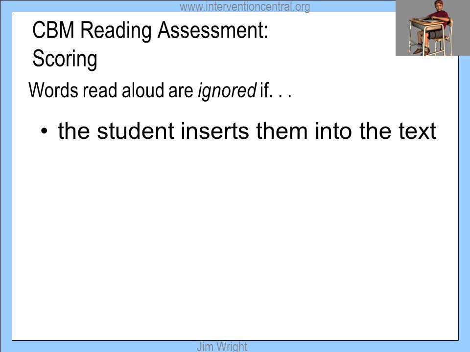CBM Reading Assessment: Scoring
