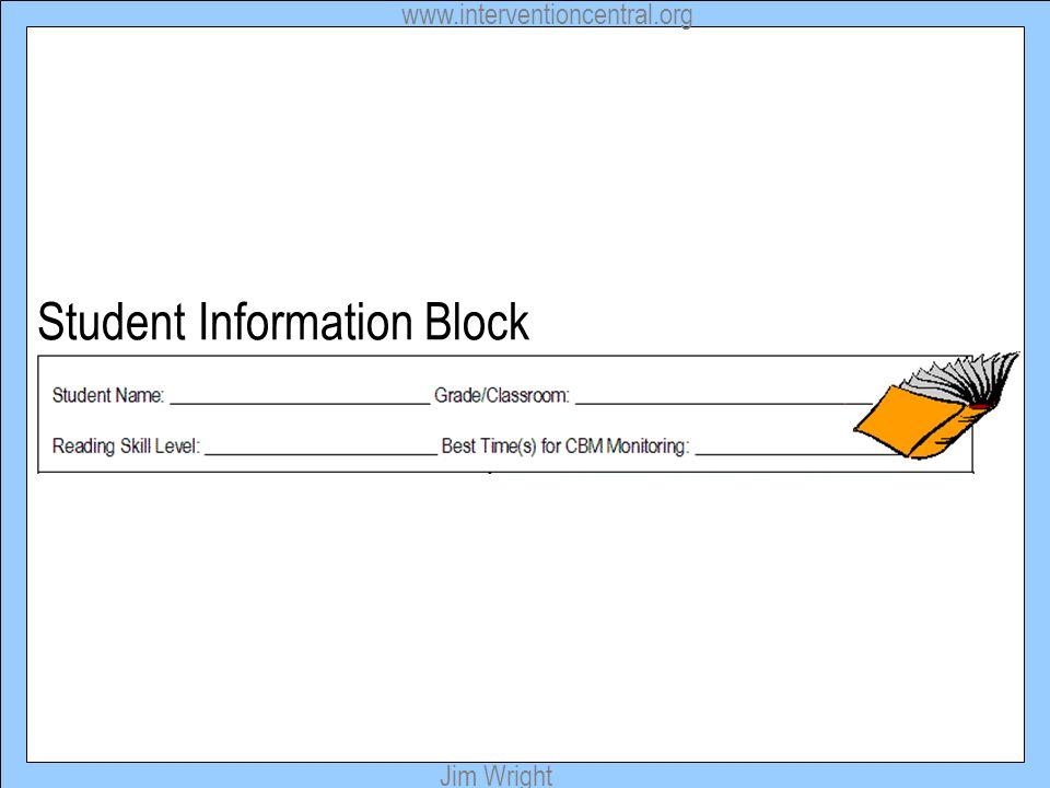 Student Information Block