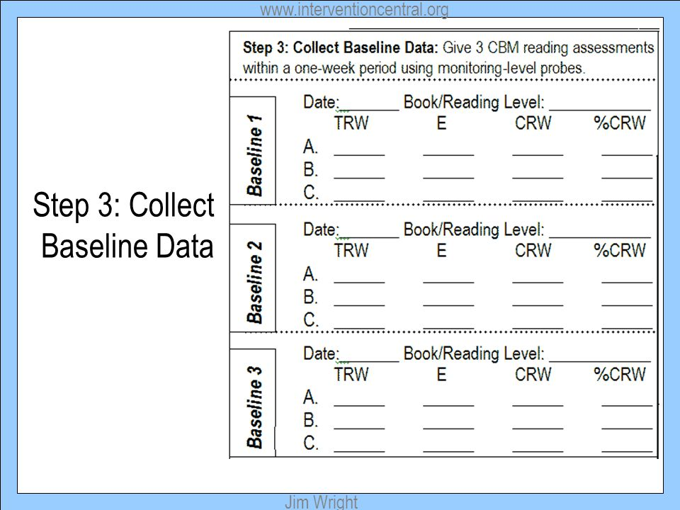 Step 3: Collect Baseline Data