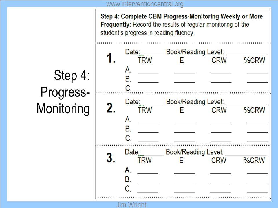 Step 4: Progress-Monitoring