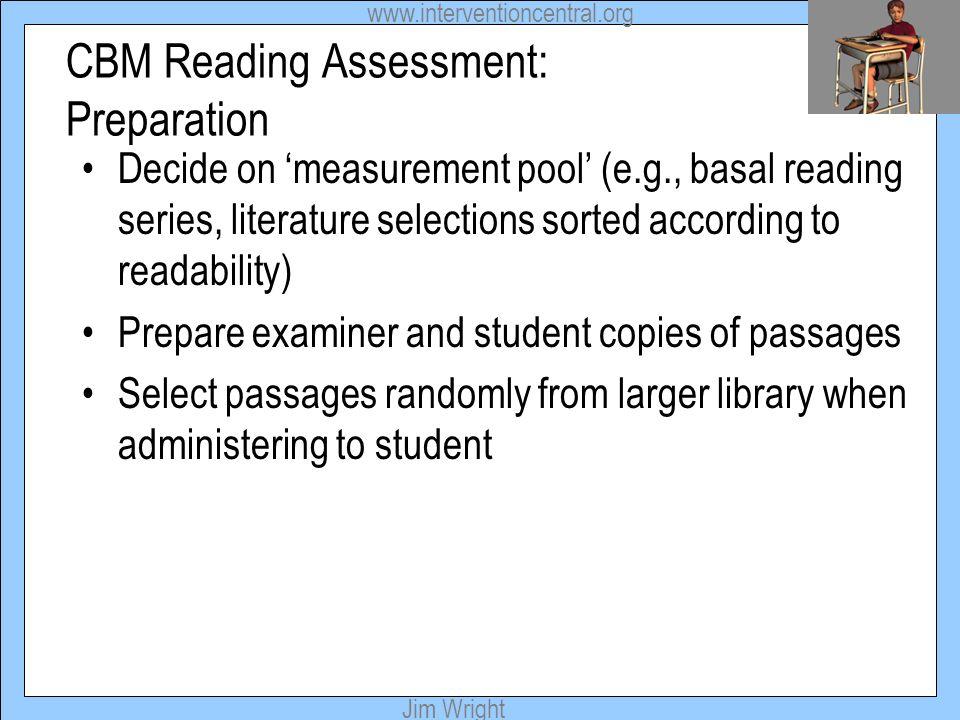 CBM Reading Assessment: Preparation