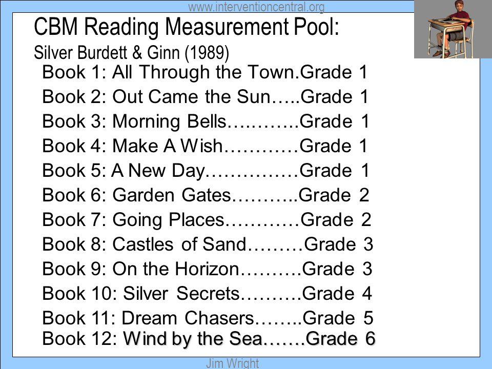 CBM Reading Measurement Pool: Silver Burdett & Ginn (1989)