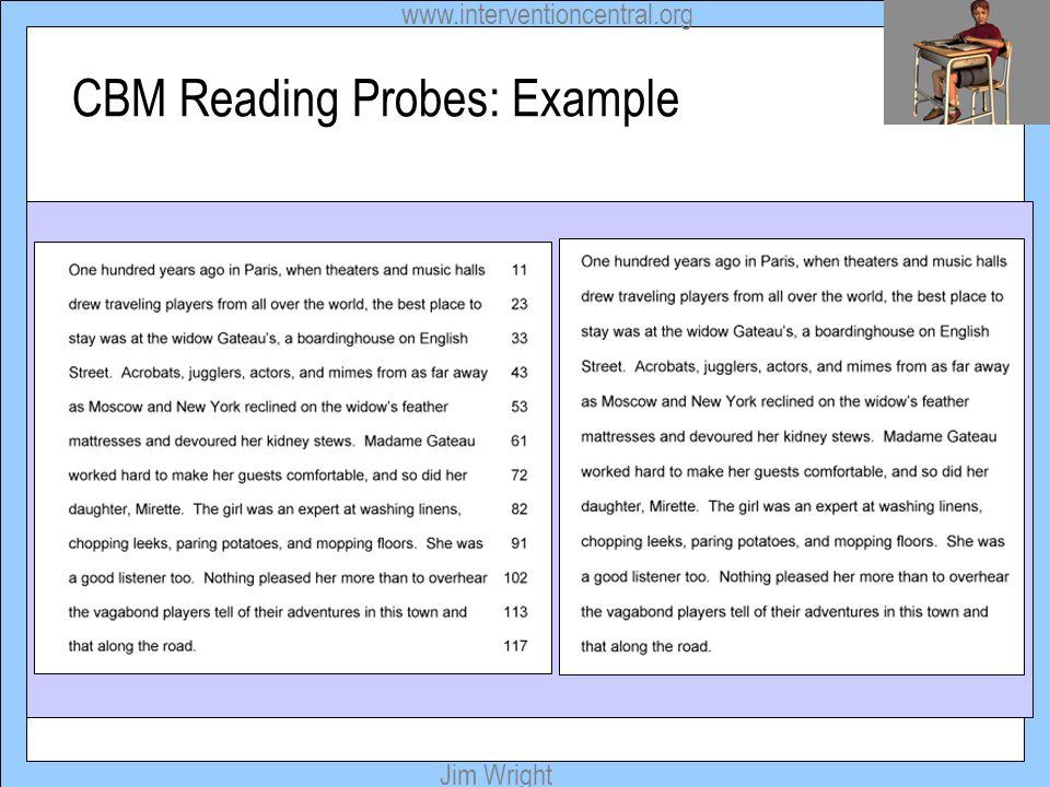 CBM Reading Probes: Example
