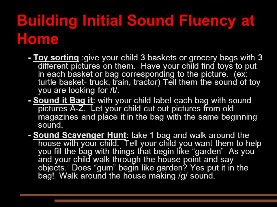 Building Initial Sound Fluency at Home