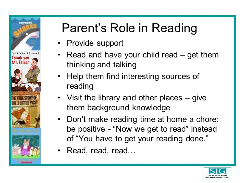 Parent's Role in Reading