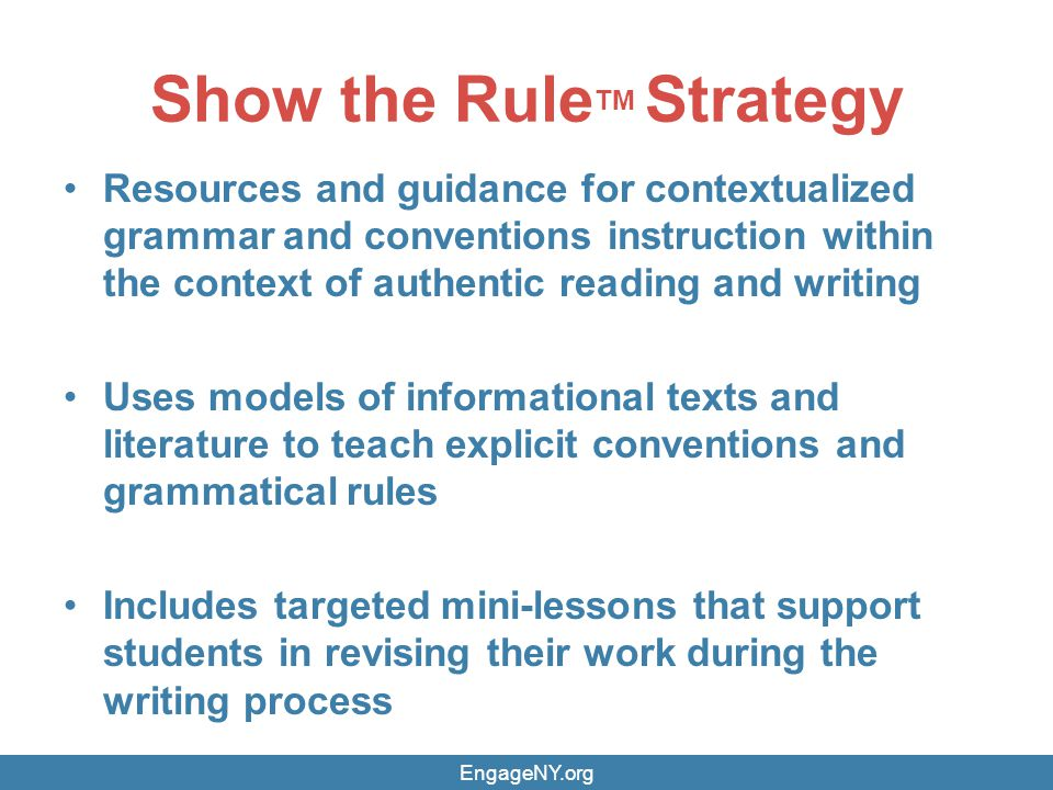 Show the RuleTM Strategy