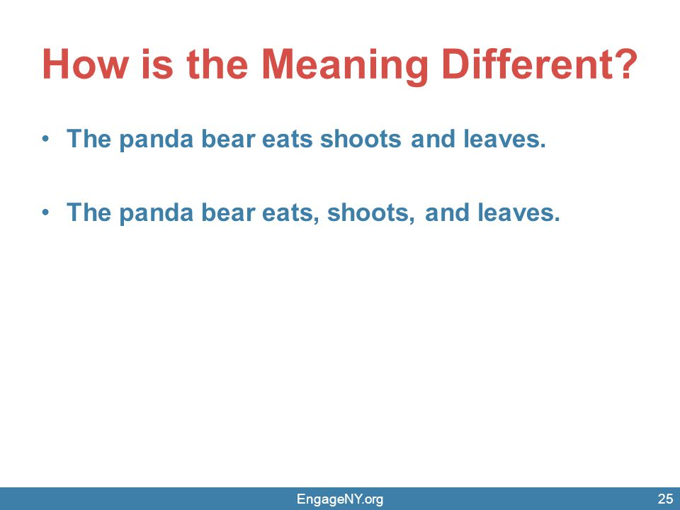 How is the Meaning Different