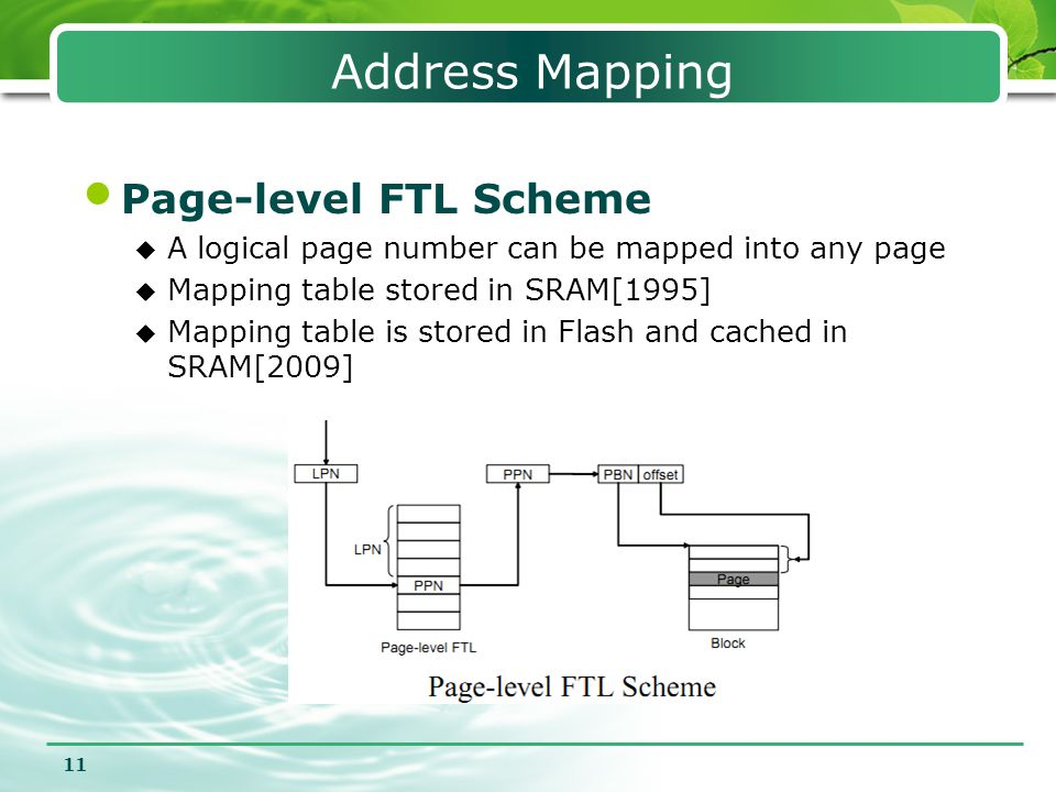 Address Mapping Page-level FTL Scheme