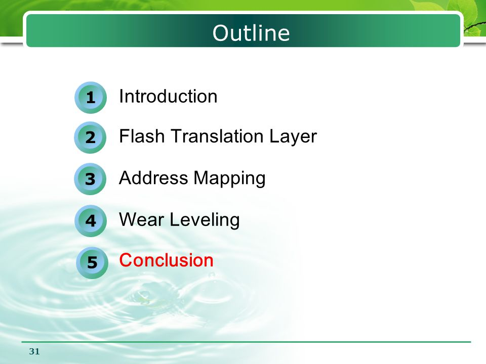Outline Introduction Flash Translation Layer Address Mapping