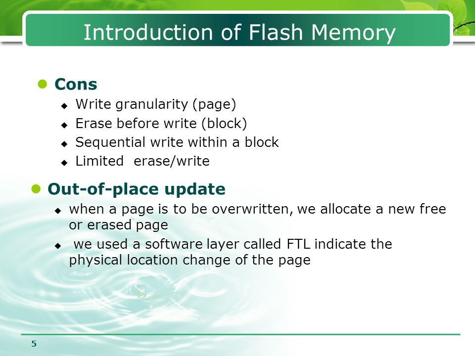 Introduction of Flash Memory