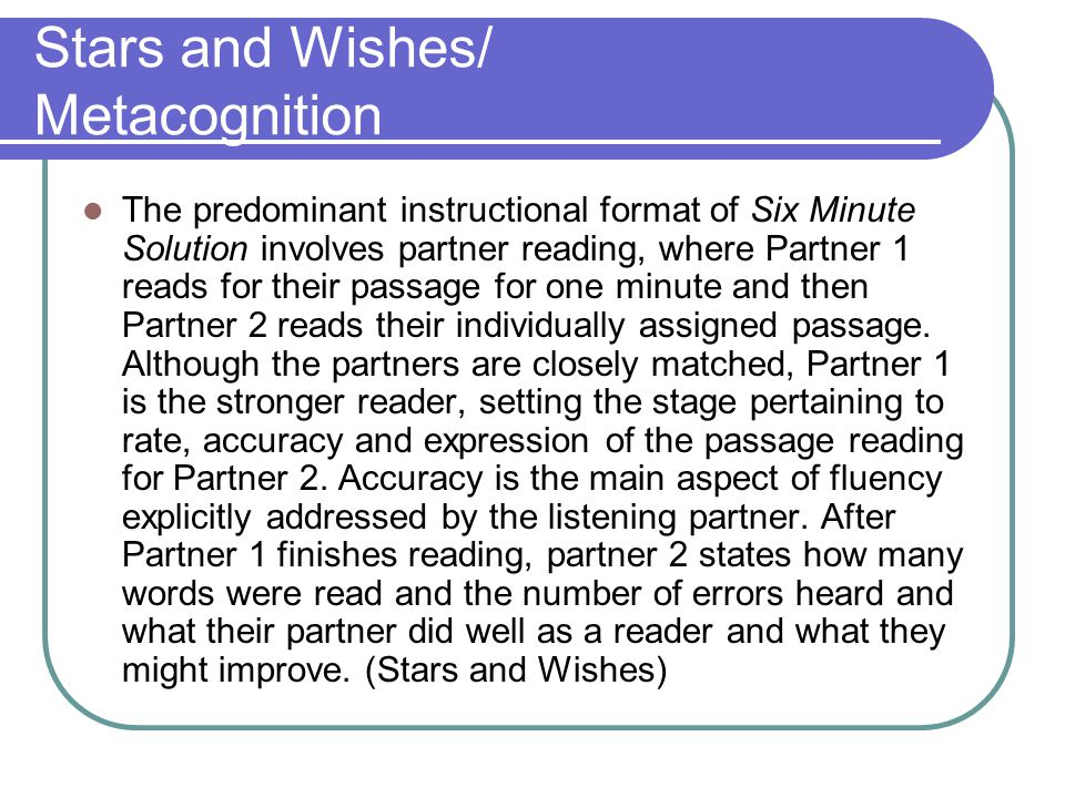 Stars and Wishes/ Metacognition
