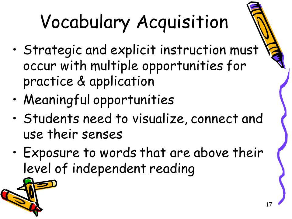 Vocabulary Acquisition