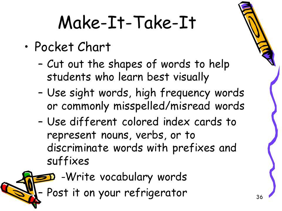 Make-It-Take-It Pocket Chart