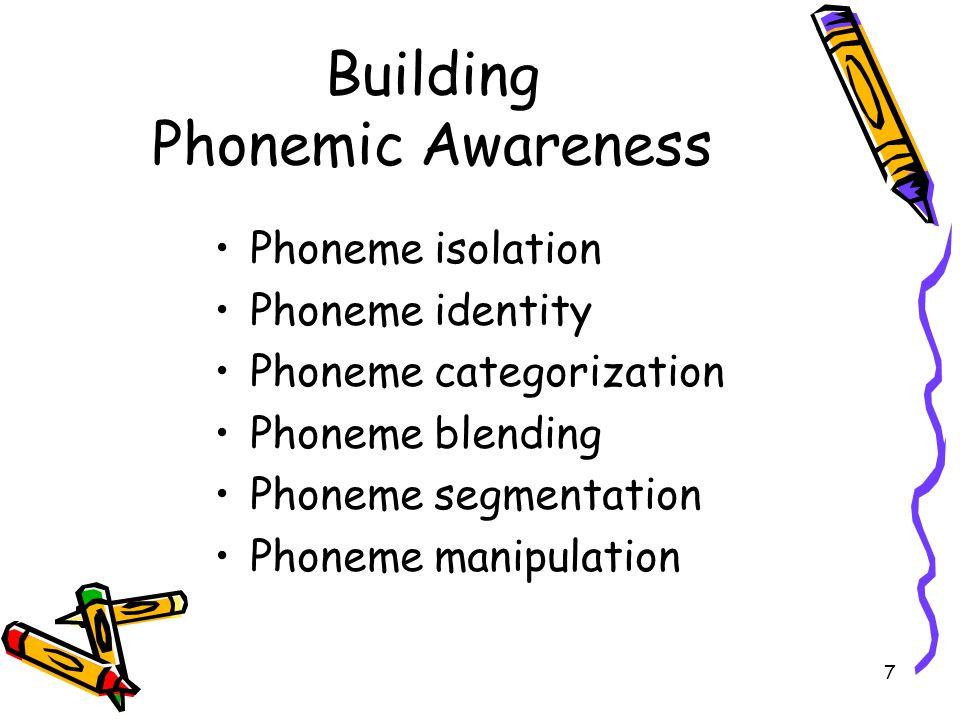 Building Phonemic Awareness