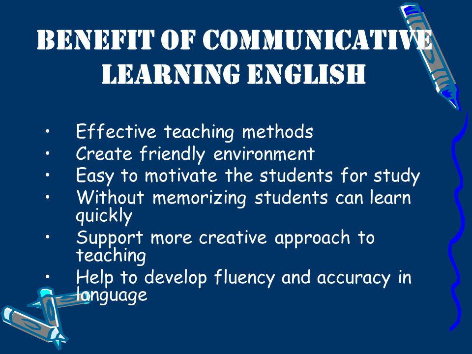 Benefit of communicative learning English