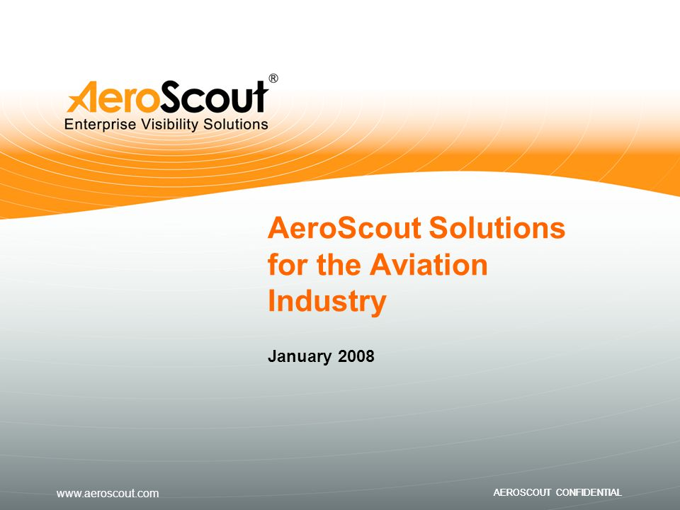 AeroScout Solutions for the Aviation Industry