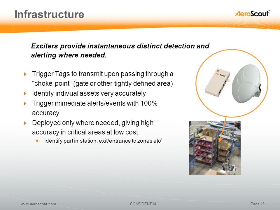 Infrastructure Exciters provide instantaneous distinct detection and alerting where needed.