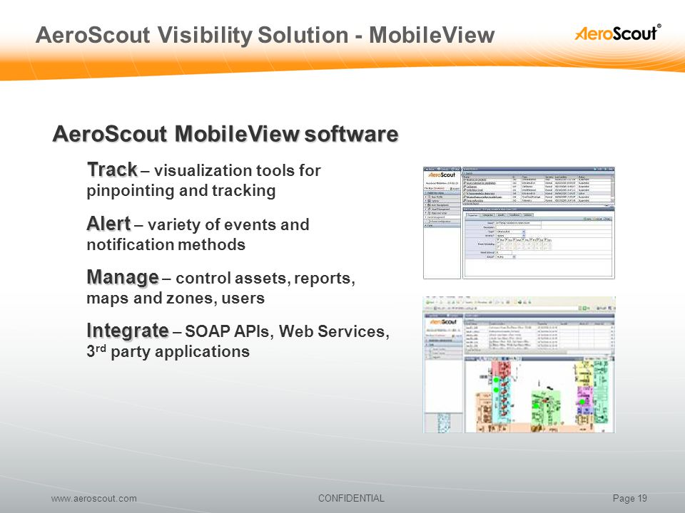 AeroScout Visibility Solution - MobileView