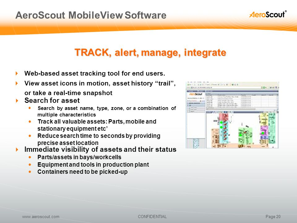 AeroScout MobileView Software