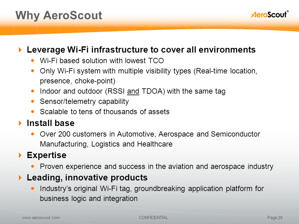 Why AeroScout Leverage Wi-Fi infrastructure to cover all environments
