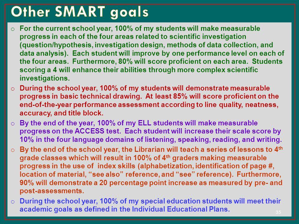 Other SMART goals