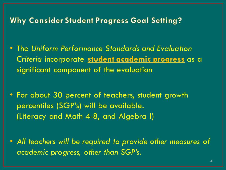 Why Consider Student Progress Goal Setting
