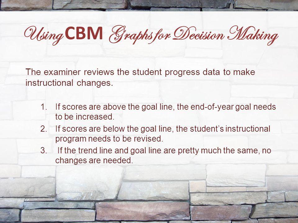 Using CBM Graphs for Decision Making
