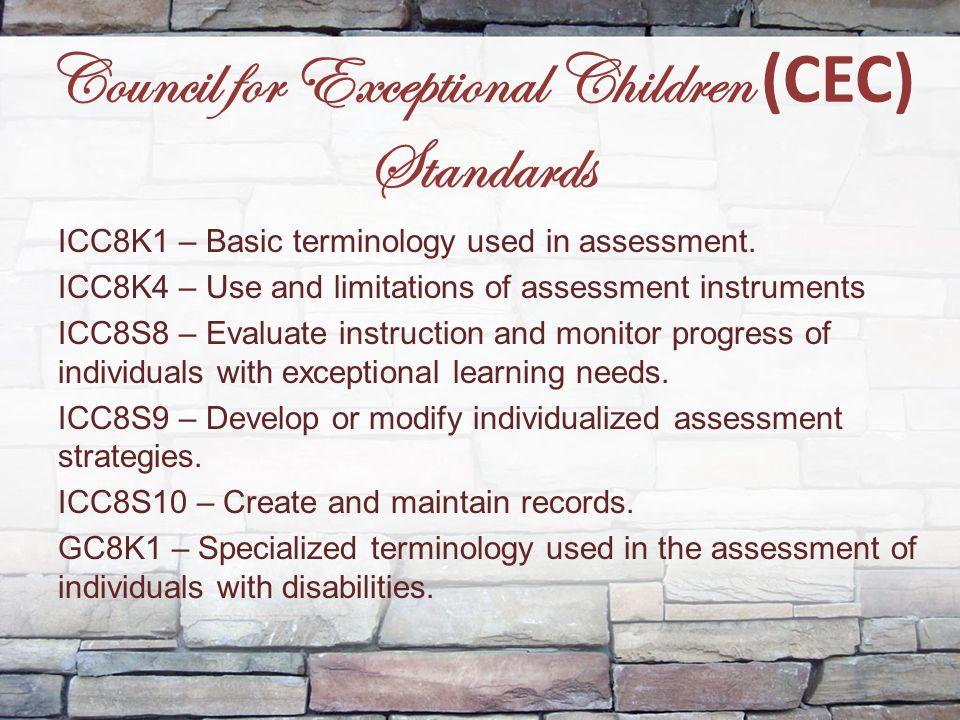 Council for Exceptional Children (CEC) Standards