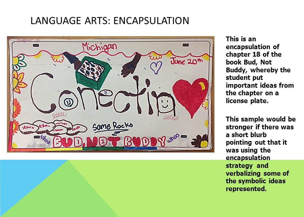 Language Arts: Encapsulation