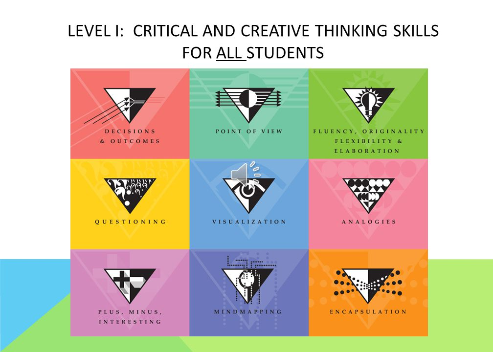 Level I: Critical and Creative Thinking Skills for all students