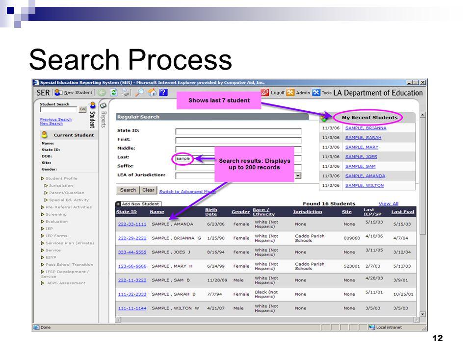 Search Process