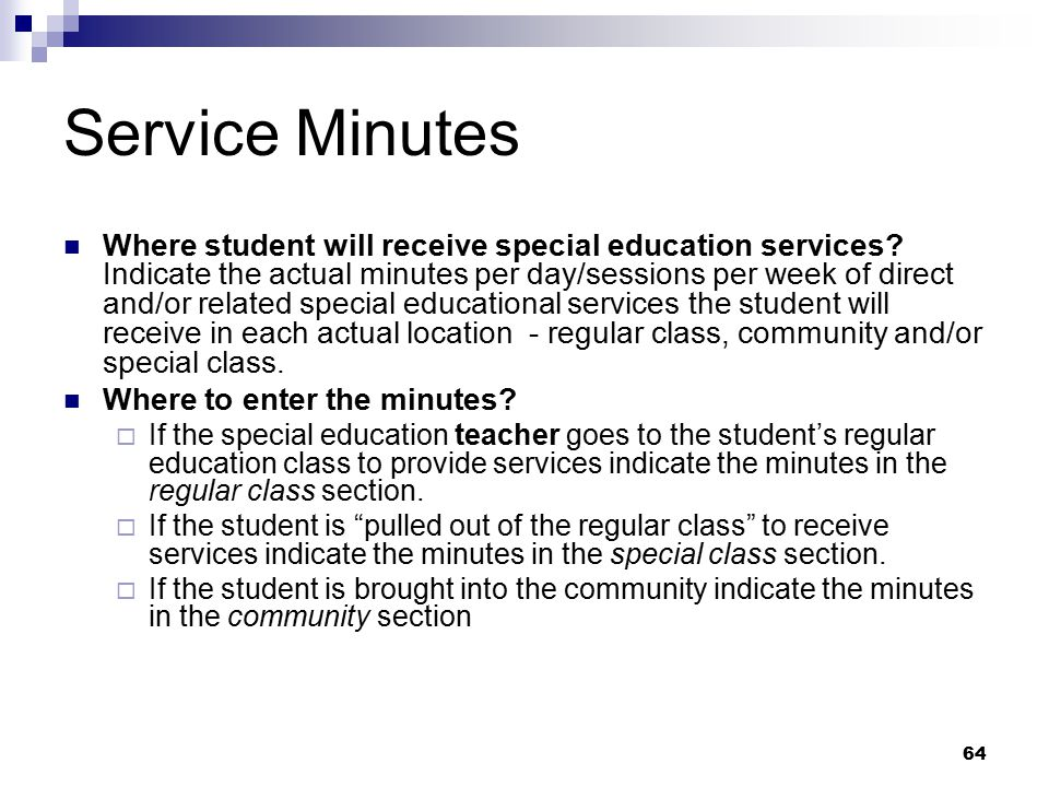 Service Minutes