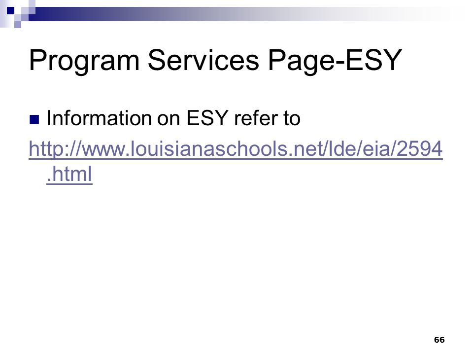Program Services Page-ESY