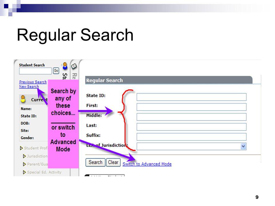 Regular Search