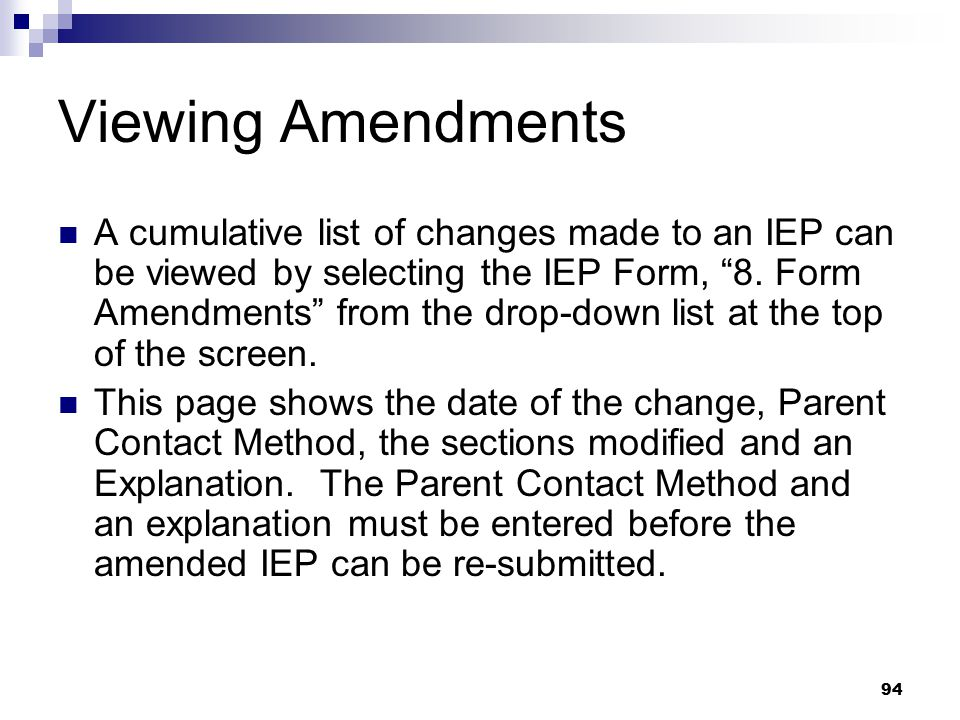 Viewing Amendments